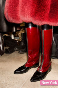 Derek Lam's Red Pointy-Toe Flat Boots