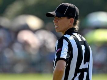 Sarah Thomas, posible first female in permanent NFL Role/Photo: USA TODAY Sports