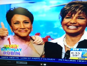 Robin Roberts One Year Birthday Bone Marrow with Sister Donor