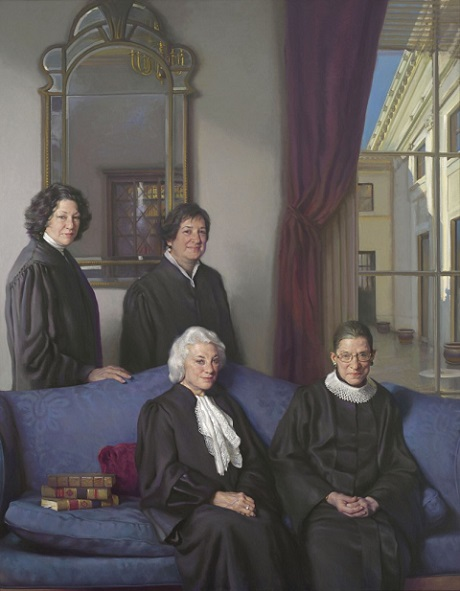 Portrait of 4 Female Supreme Court Justices