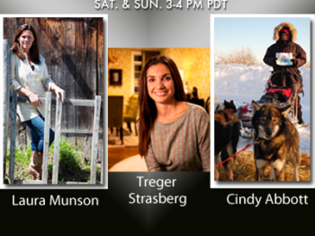 TWE Radio Encore Show with Stacey Gualandi with guests Laura Munson, Treger Strasberg and Cindy Abbott