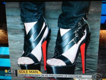 Christian Louboutin Shoes/CBS Morning Show