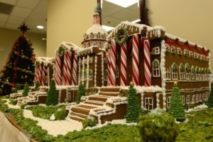 Gingerbread House created by soldiers of US Capitol
