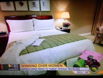 Hotels for Women--CBS Morning News