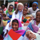 Dr. Catherine Hamlin, co-founder of Addis Ababa Fistula Hospital in Ethiopia, with some of her patients