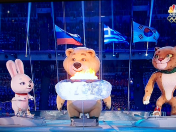 2014 Winter Olympic End with Big Bear/Photo: NBC Screenshot2014 Winter Olympic End with Big Bear/Photo: NBC Screenshot