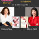 "TWE Radio 'Best Of' Show with Gloria Feldt, President of Take the Lead, and Debora Spar, President of Barnard College and author of ""Wonder Women"""