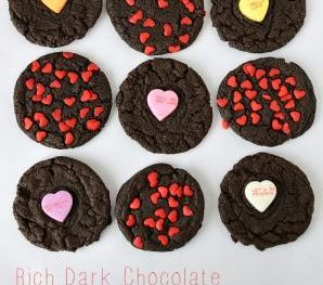 Dark Chocolate Valentine's Cookies by blessthismessplease.com