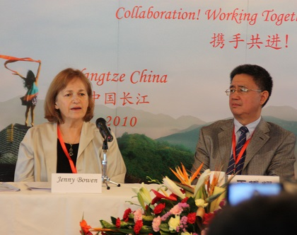 Jenny Bowen and Min of Civil Affairs Dir General Wang, 2010
