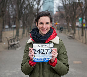 Whitney Eulich, Boston Marathon runner/Photo: Ann Hermes