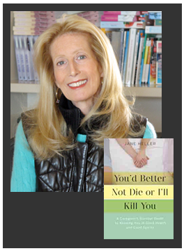 "Jane Heller, New York Times bestselling author with her book, ""You'd Better Not Die or I'll Kill You"""