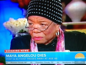 Maya Angelou--NBC News on her passing
