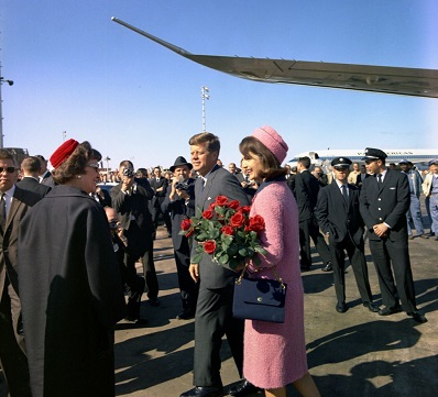 President Kennedy and Jackie arrive Dallas 11/63--Photo from The Pink Suit Publisher to TWE