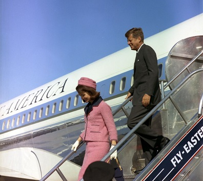 President Kenndy and Jackie arriving in Dallas/Nov. 1963--from The Pink Suit publisher