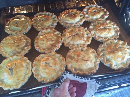 Beth Howard, Pie Lady, pies for 4th of July, 204/Photo: Daniel Broten