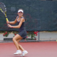 Cici Bellis loads up to hit a forehand | Photo: John Togasaki/Jared Preston via Wikimedia
