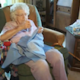99-year-old Lillian Weber sews a dress every day for children in Africa