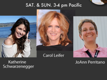 TWE Radio: Interviews with Katherine Schwarzenegger, comedian Carol Leifer and JoAnn Perritano