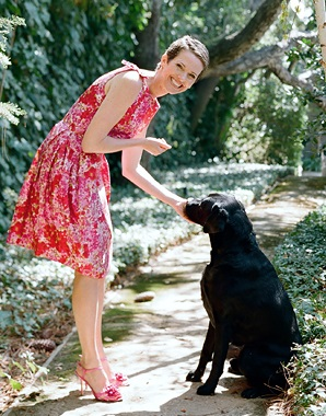 Hollye Jacobs, author The Silver LIning, with dog Buzz/Photo: Elizabeth Messina