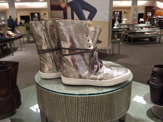Steve Madden resolvve silver boot with zipper