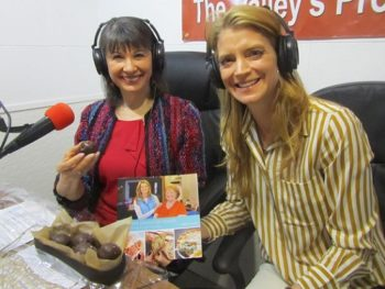Gloria Feldt and Cheryl Najafi on TWE Radio/Photo: P Burke