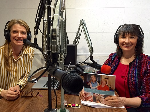 Cheryl Najafi and Gloria Feldt in The Women's Eye Radio Studio/Photo: P. Burke