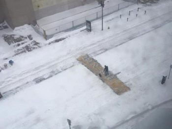 Boston Finish Line shoveler/Boston Police Twitter