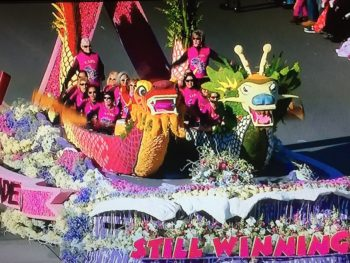 LA Pink Dragon Rose Bowl Float 2015/NBC Screenshot