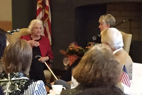 Justices Sandra Day o'Connor and Ruth McGregor at Empowerment Luncheon 1/13/15 Phoenix YWCA/Photo: P. Burke