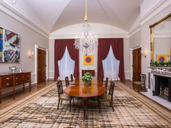 White House Dining Room Redecorated/White House Photo