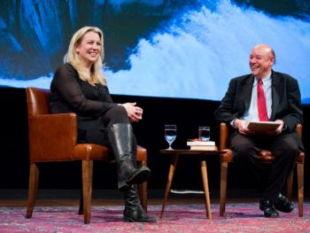 Author Cheryl Strayed and Don George, National Geographic Headquarters/Photo: Rebecca Drobis/National Geographic