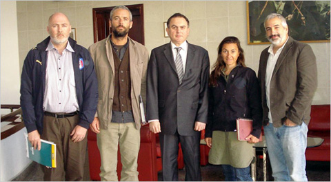 Stephen Farrell, Tyler Hicks, Levent Sahinkaya (the Turkish ambassador in Libya, Lynsey Addario, and Athony Shadid in Turkish Embassy in Tripoli before being released to Tunisia