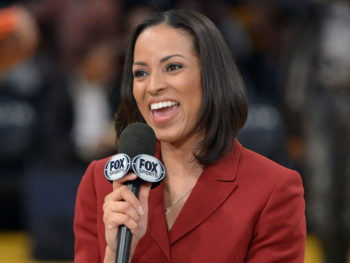 Stephanie Ready, first NBA Full-Time Female Analyst/Photo: Kirby Lee/Image of Sport-USATODAY Sports