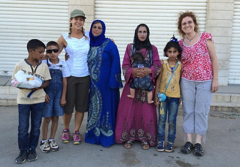 Beth Howard meets Barbara Massaad, author Soup for Syria, in Lebanon/Photo: Beth Howard