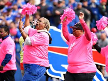Buffalo Bills honor Breast Cancer Survivors at Game Oct. 4/2015/Photo @espn