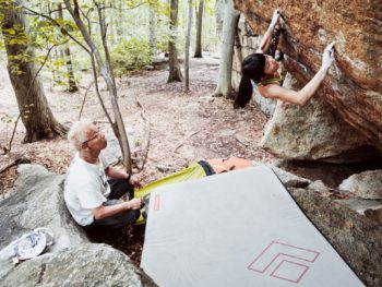 Ashima and Poppo--father teaches daughter to climb/Photo: Christaan Felber for ESPN