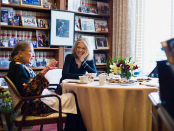 Gloria Steinem and Ruth Bader Ginsburg in Ginsburg's Champers at the Supreme Court/Photo: Hilary Swift for The New York Times