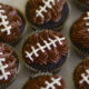 One bowl football cupcakes by thebakerchick.com