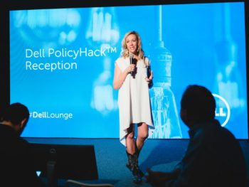 Elizabeth Gore, Dell exec, speaking at SXSW/Photo from Pinterest