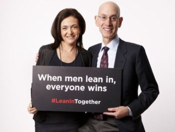Sheryl Sandberg and Adam Silver, NBA