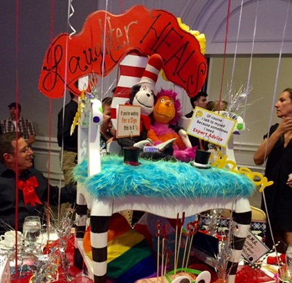 Lauren Daniels Dr. Seuss table at Fairytale Tea/Photo: P. Burke