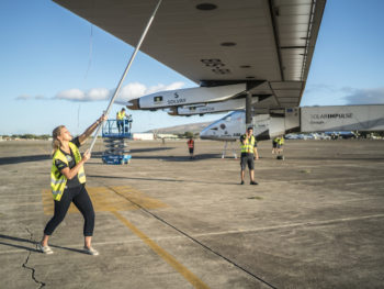 Paige Kassalen with Solar Impulse 2/Forbes.com