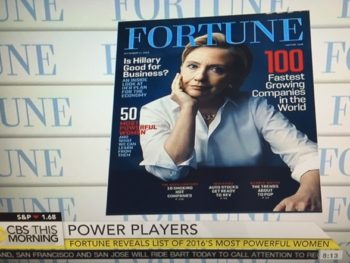 Fortune Mag cover on 50 most powerful women in business/Photo: CBS Screenshot