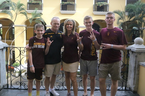 Charli Turner Thorne and family/Photo: Sun Devil Athletics