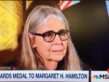 Margaret Hamilton,Presidential Medal of Freedom winner/Photo: Screenshot MSNBC