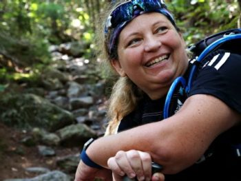 Stacey Kozel, Quadriplegic hiker of Appalacian Trail/Photo: Craig F. Walker