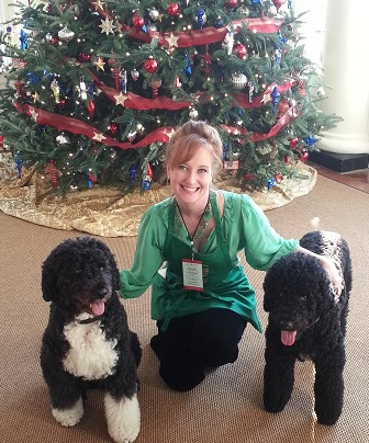 Coleen Christian Burke with Sunny and Bo a White House/Photo: Coleen Christian Burke