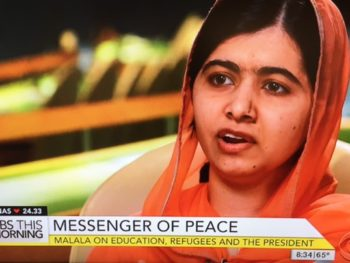 Malala, Messenger of Peace on CBS Morning/Photo: Screenshot