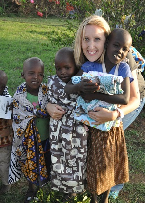 Andra Good, Leigh's Blankies, with children in Africa/Andra's photo