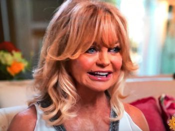 Goldie Hawn, actress and mindfulness teacher/Photo: CBS Screenshot